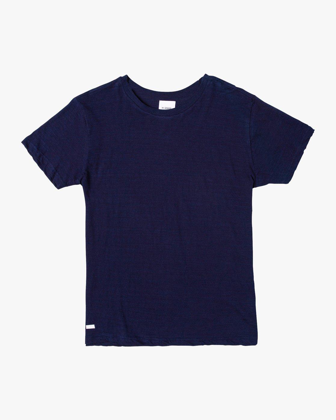 0 Hi-Grade Pigment T-Shirt Blue M949VRTU RVCA
