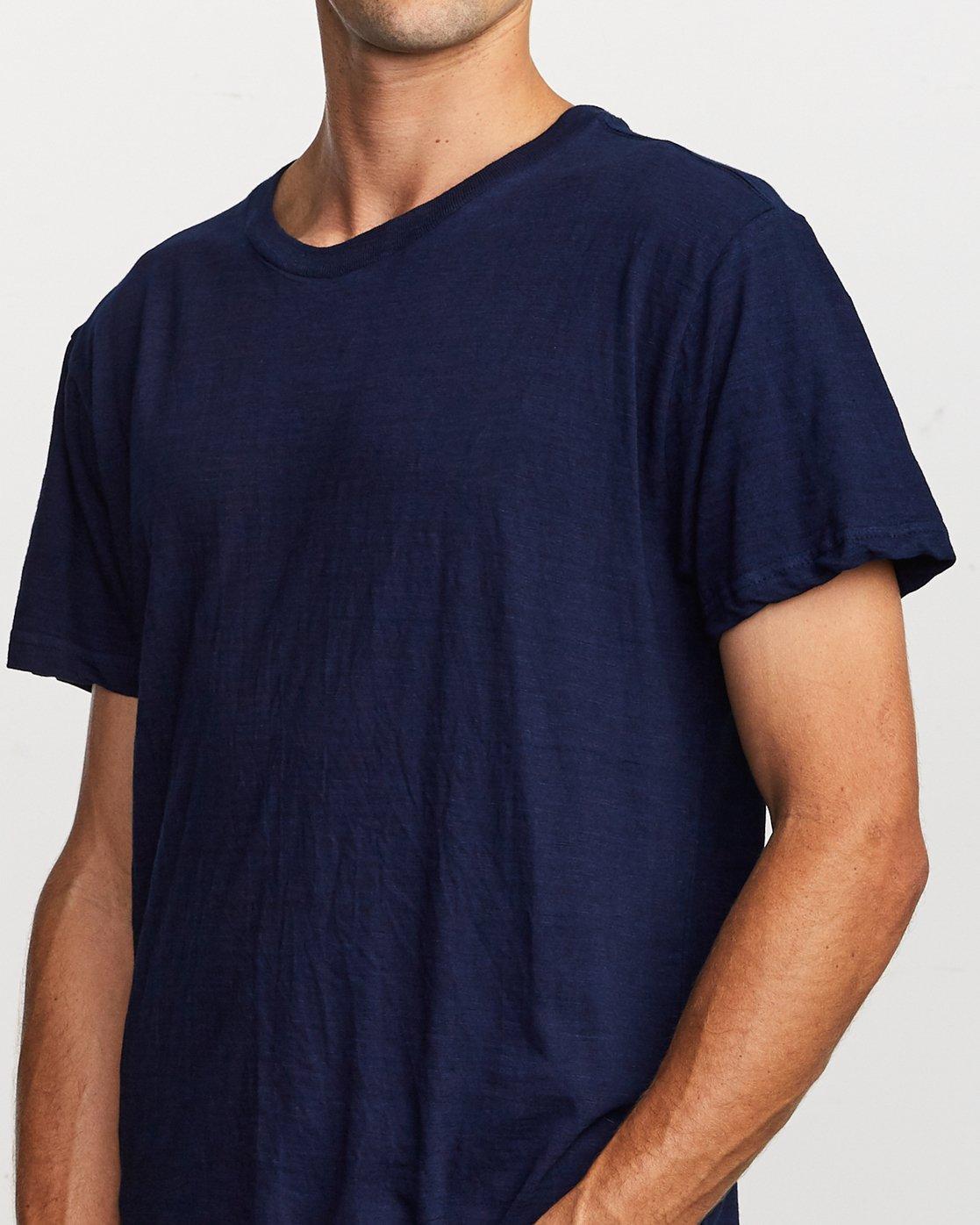 4 Hi-Grade Pigment T-Shirt Blue M949VRTU RVCA