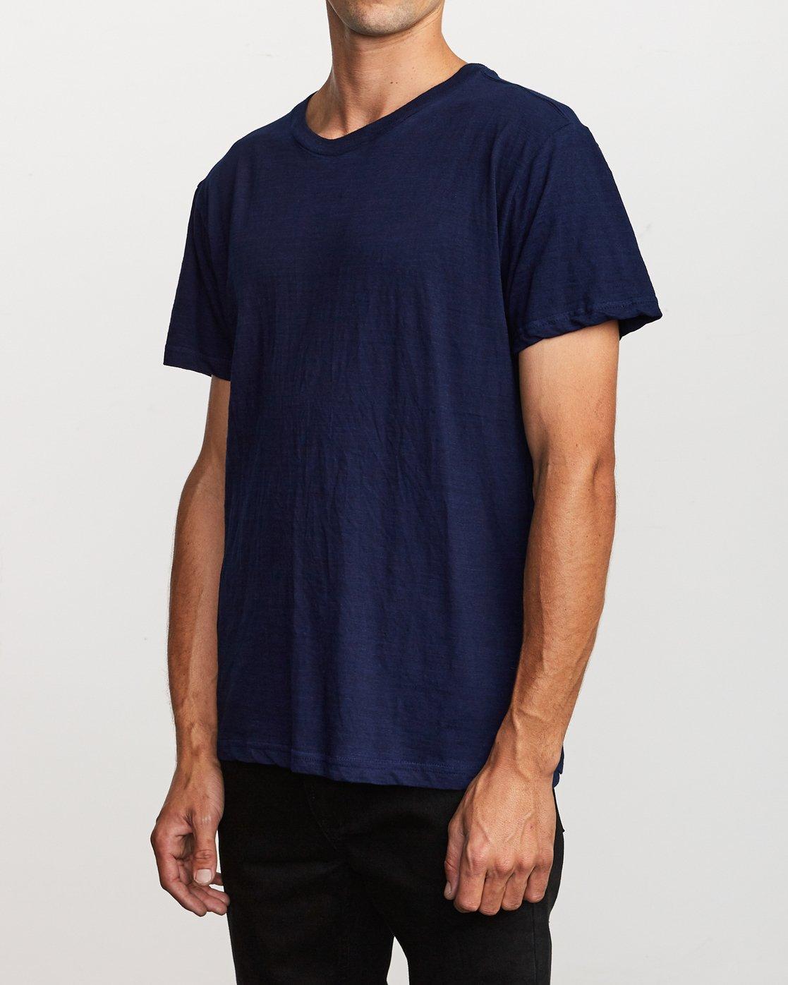 2 Hi-Grade Pigment T-Shirt Blue M949VRTU RVCA