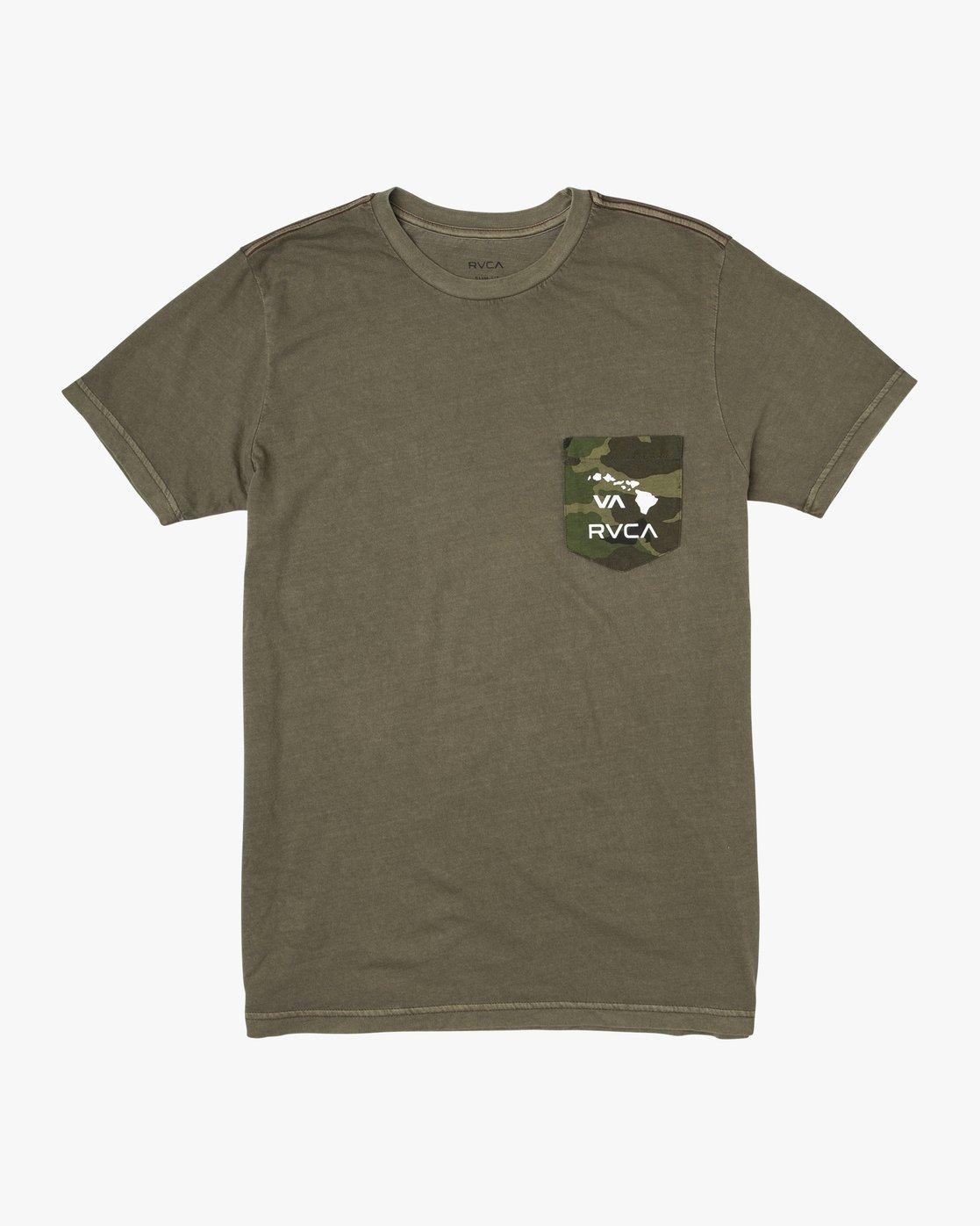 0 Aloha Camo PTC Pocket T-Shirt Green M951URAC RVCA
