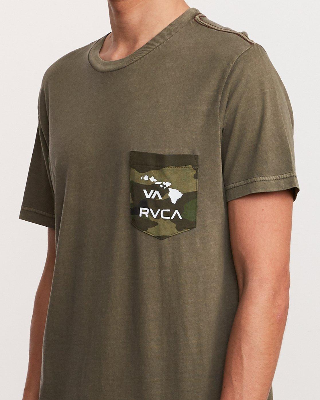 4 Aloha Camo PTC Pocket T-Shirt Green M951URAC RVCA