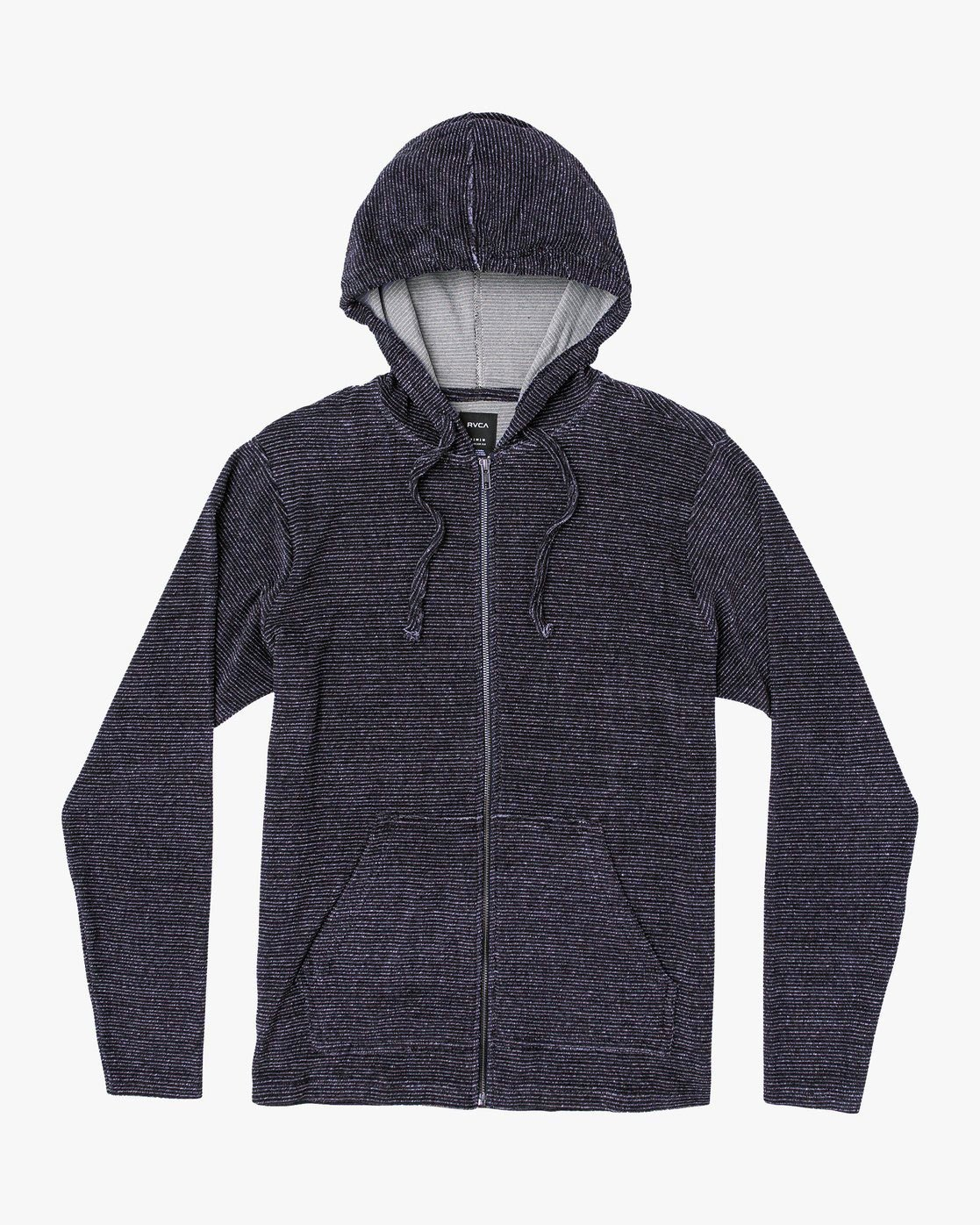 0 Super Marle Zip Knit Hoodie Blue M951VRSM RVCA