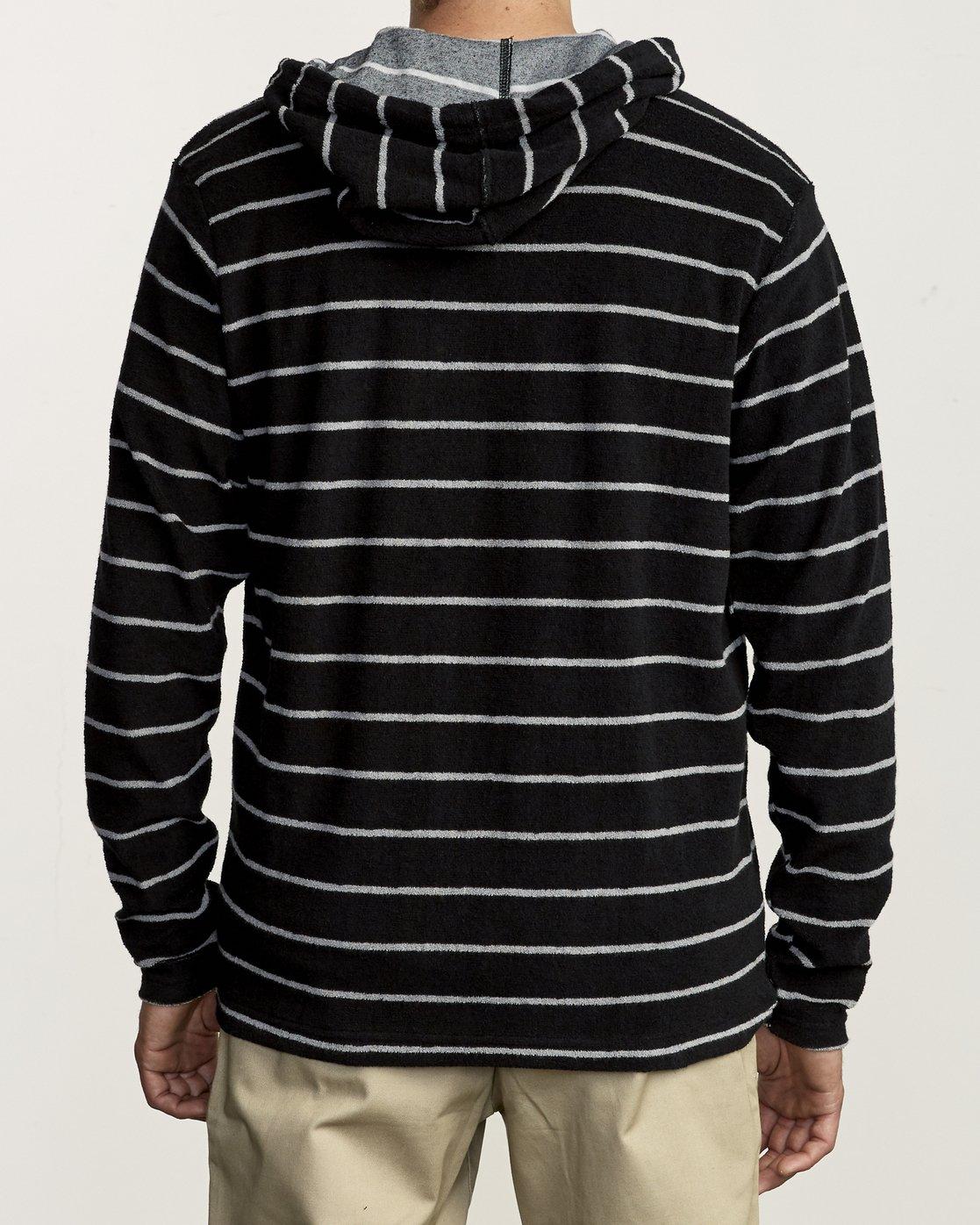 2 Super Marle Zip Knit Hoodie Black M951VRSM RVCA