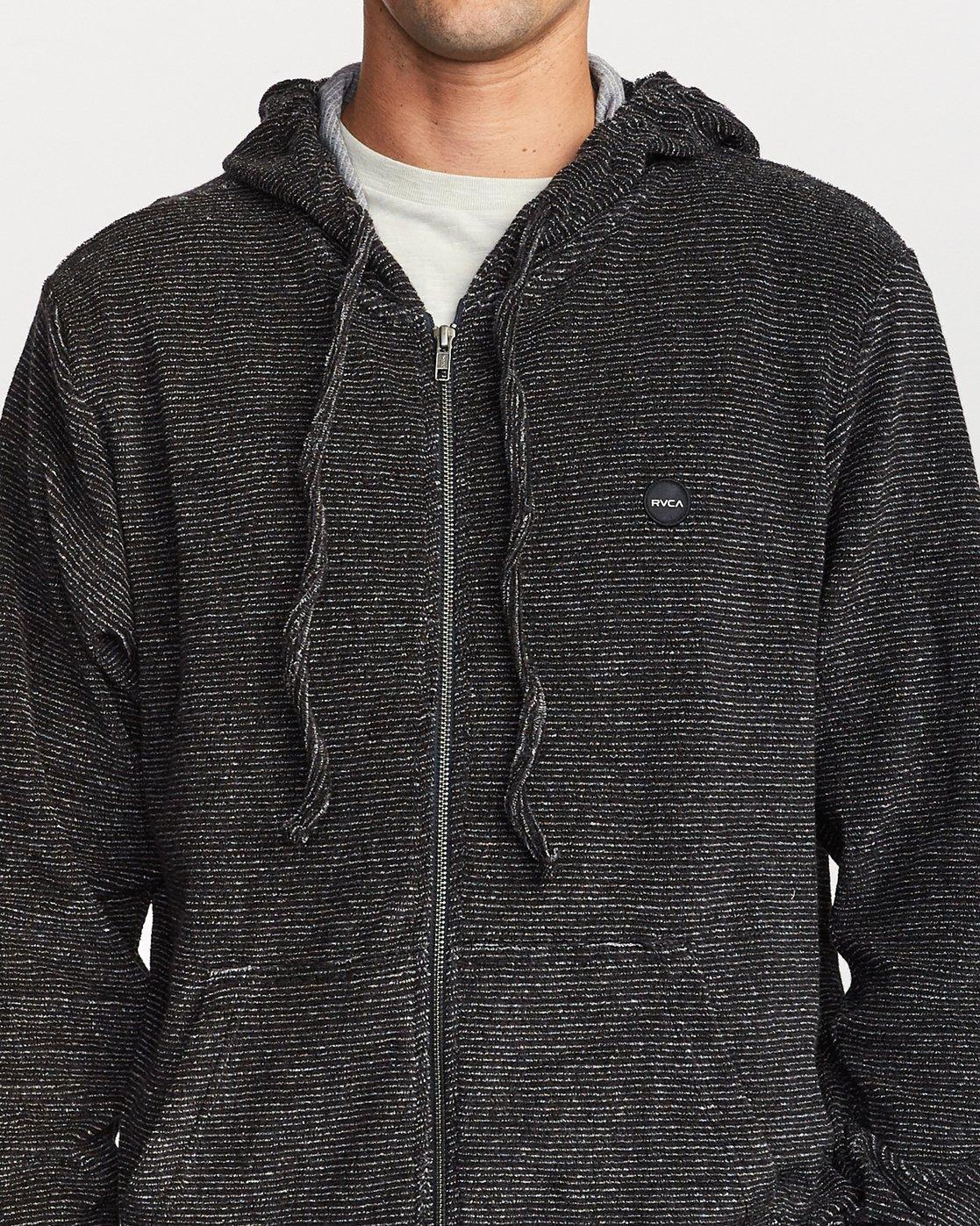 4 Super Marle Zip Knit Hoodie Black M951VRSM RVCA