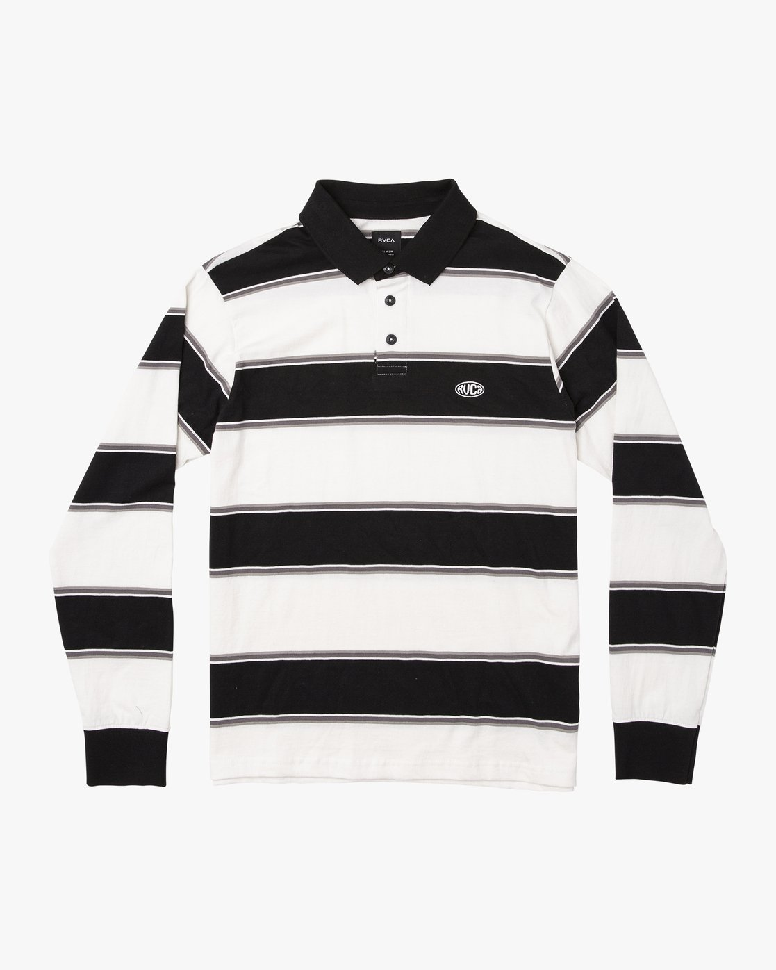 0 April Skies Long Sleeve Polo White M952VRAS RVCA