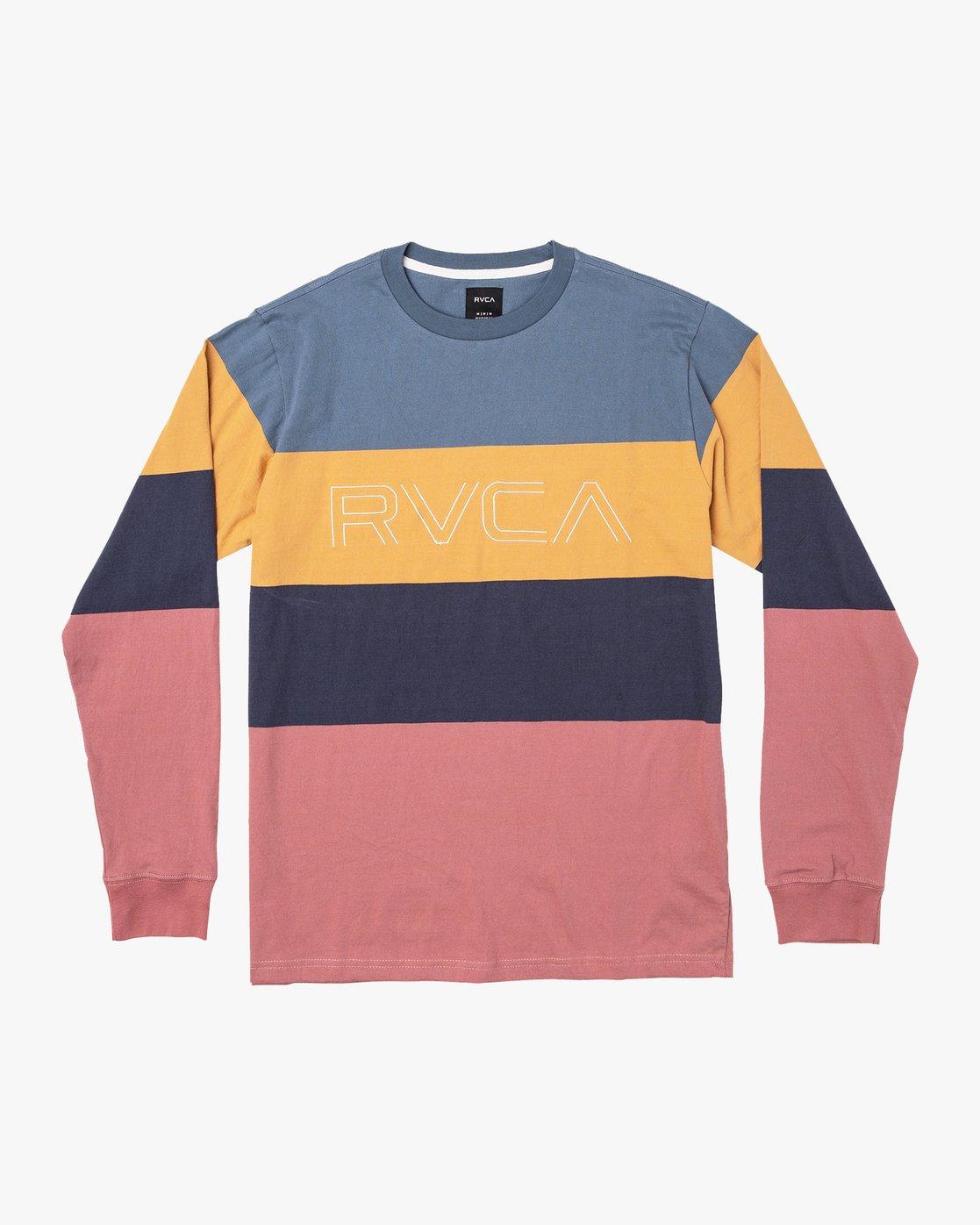 0 Shifty Long Sleeve Knit T-Shirt Blue M953VRSL RVCA