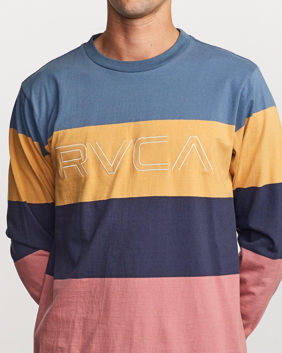 4 Shifty Long Sleeve Knit T-Shirt Blue M953VRSL RVCA