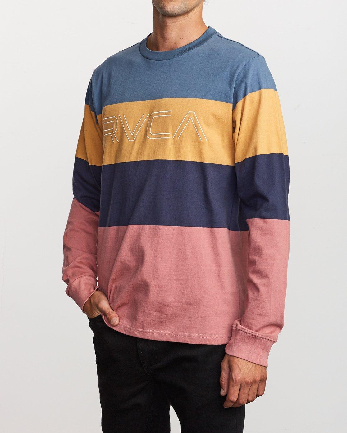 2 Shifty Long Sleeve Knit T-Shirt Blue M953VRSL RVCA