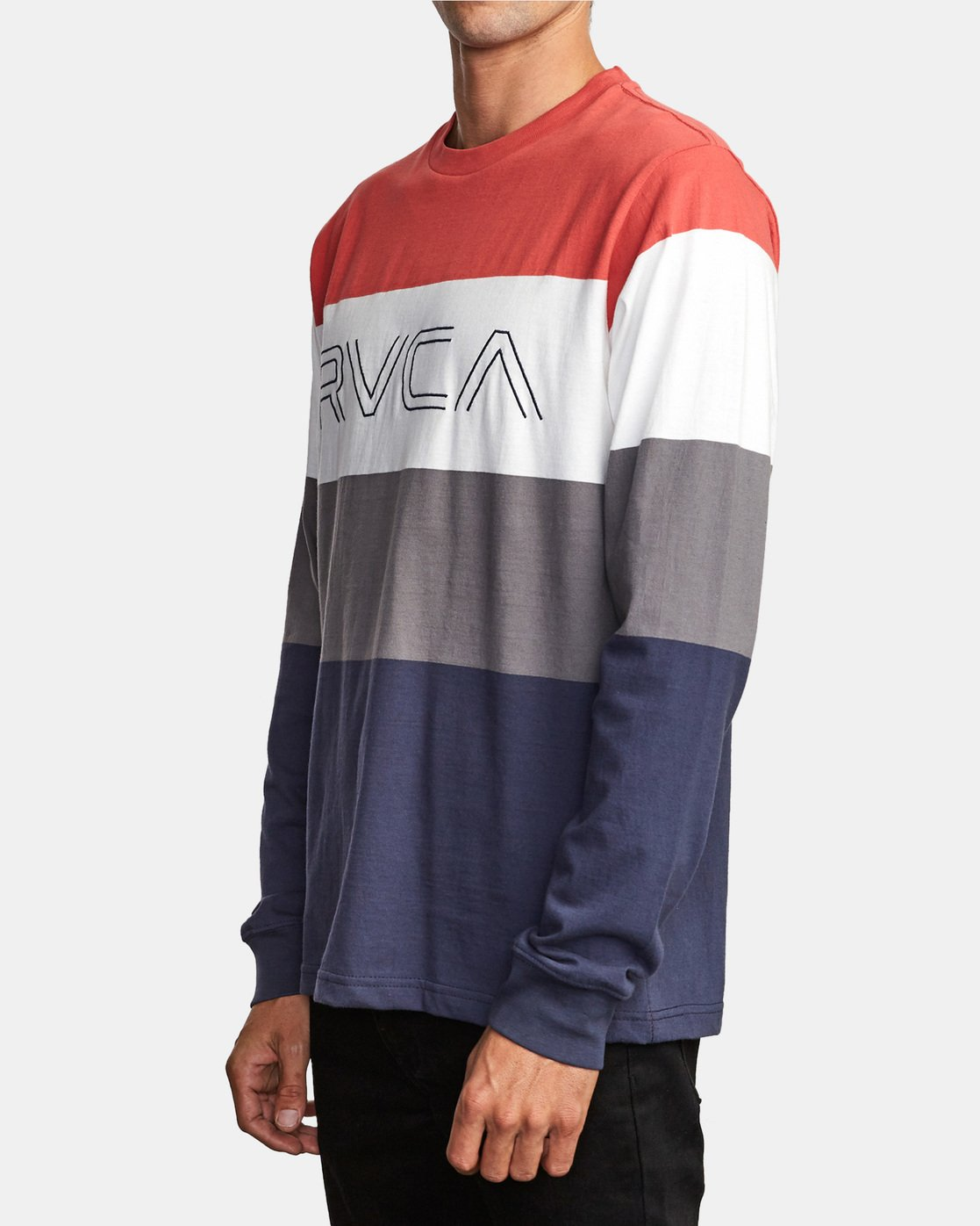 1 Shifty Long Sleeve Knit T-Shirt Red M953VRSL RVCA