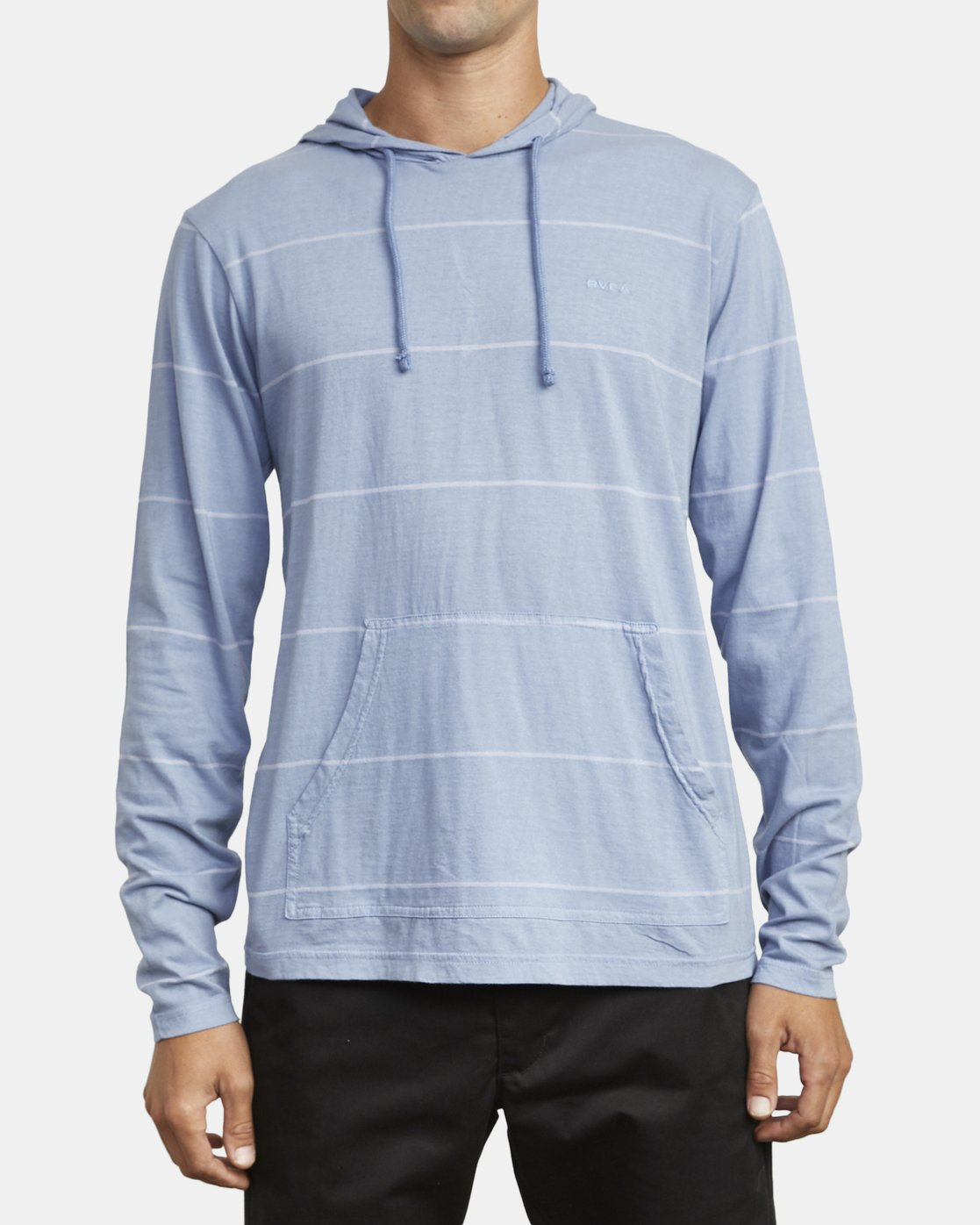 1 PTC STRIPE HOODED SHIRT Blue M9553RPS RVCA