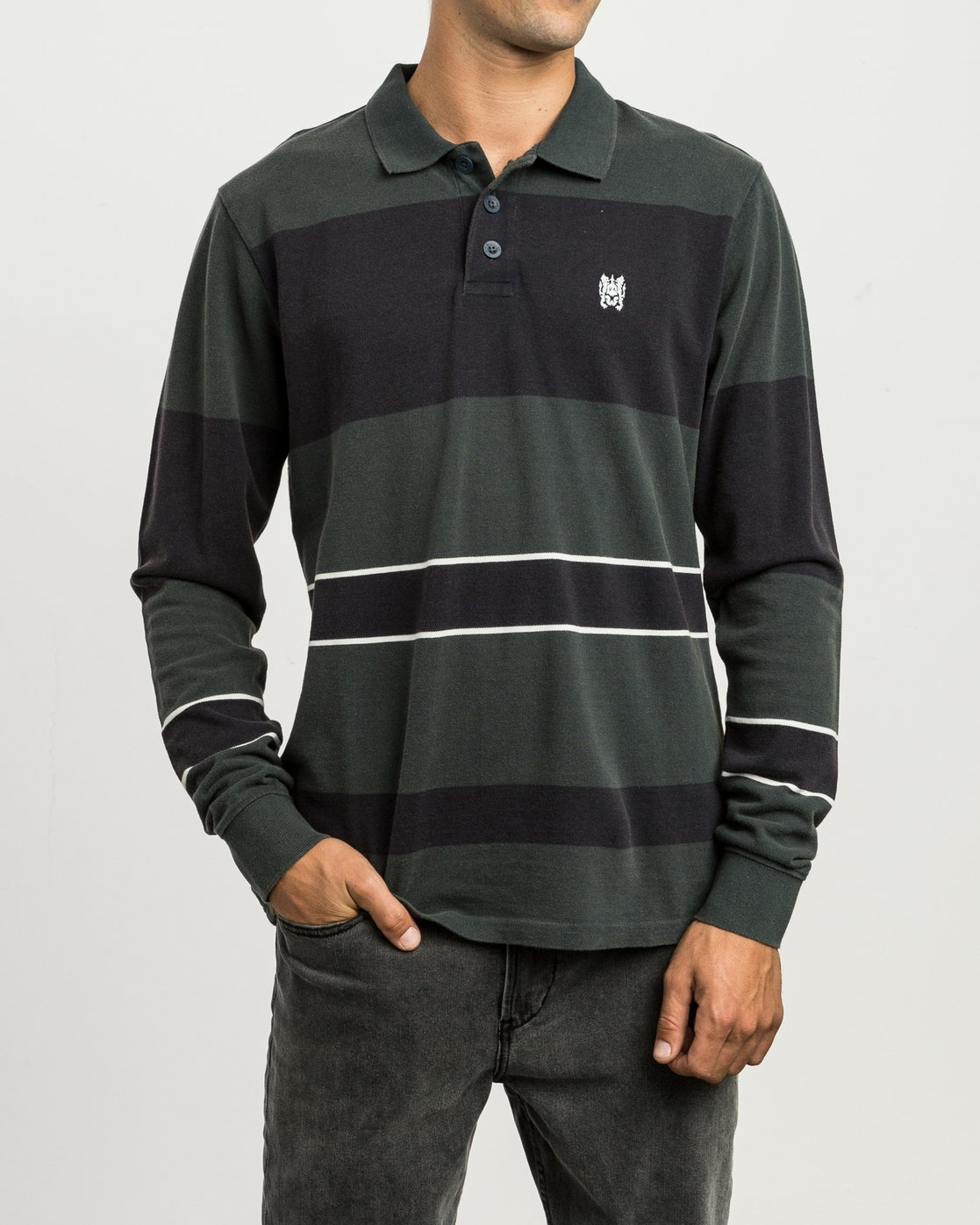 1 Andrew Reynolds Compilation Polo Green M955SRCP RVCA