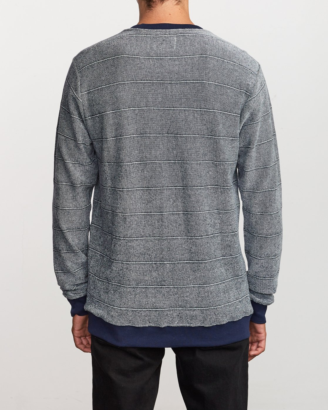 3 Luxury Long Sleeve Knit T-Shirt Blue M955VRLC RVCA