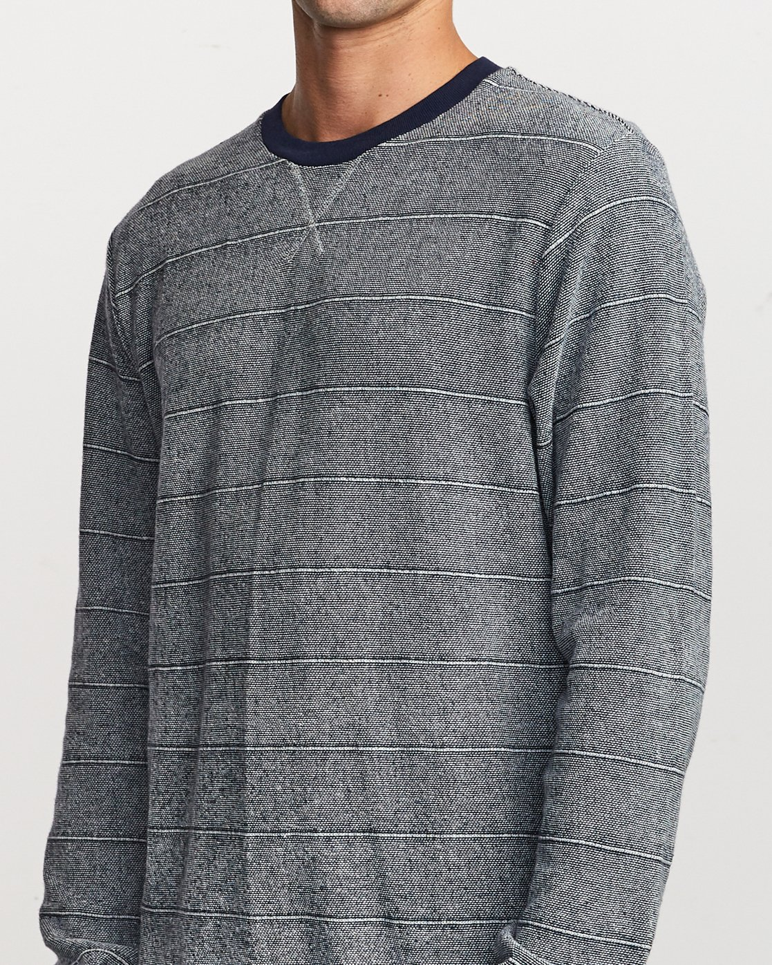 4 Luxury Long Sleeve Knit T-Shirt Blue M955VRLC RVCA