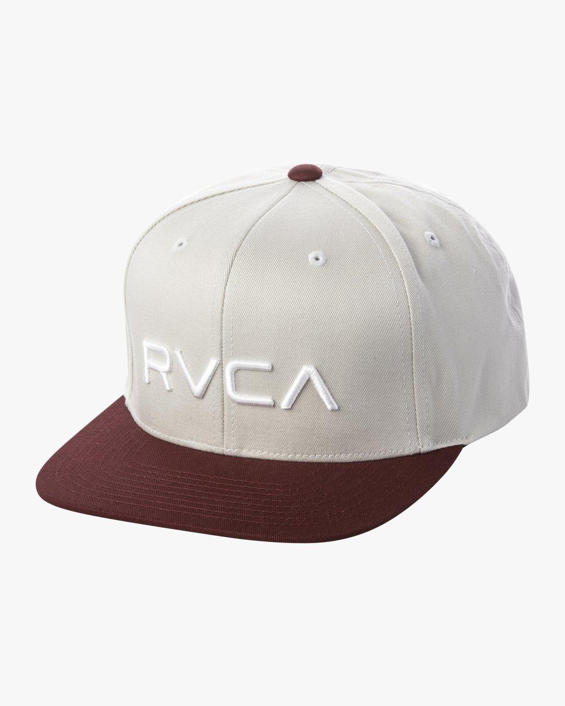 0 RVCA TWILL II SNAPBACK HAT Grey MAAHWRSB RVCA