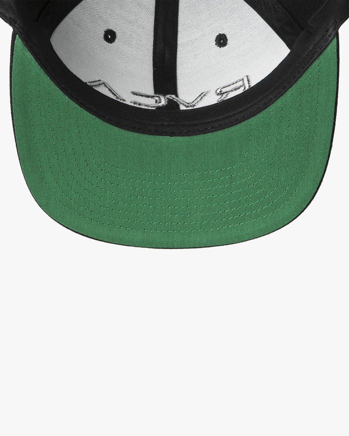 5 RVCA Twill Snapback III Hat Black MAAHWRSB RVCA