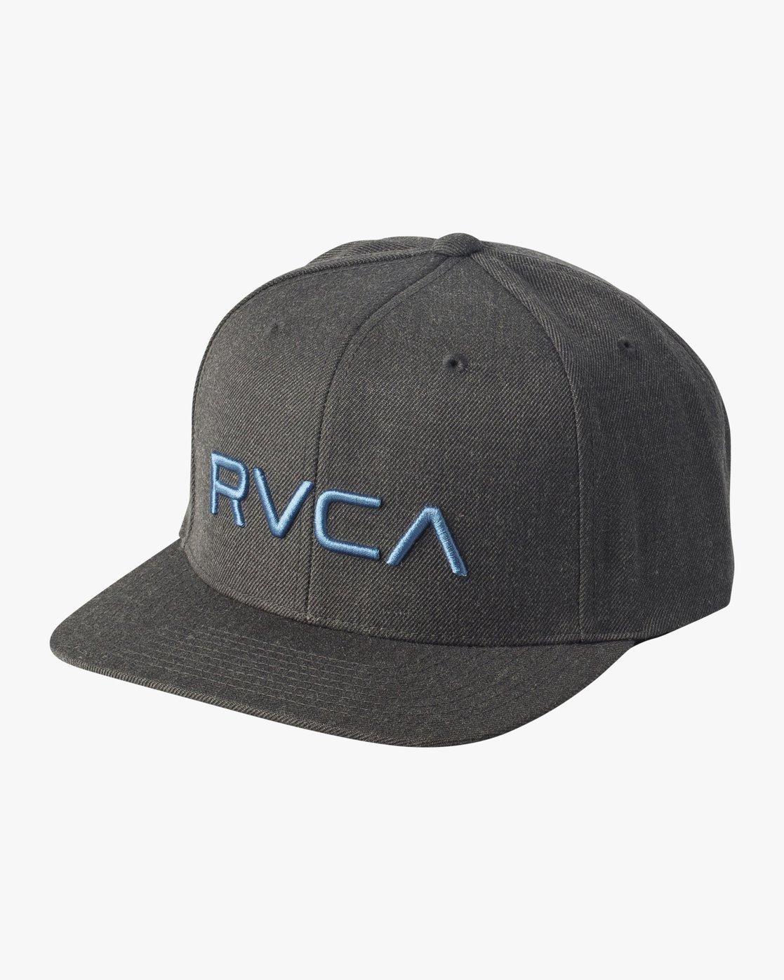 0 RVCA Twill Snapback III Hat Grey MAAHWRSB RVCA