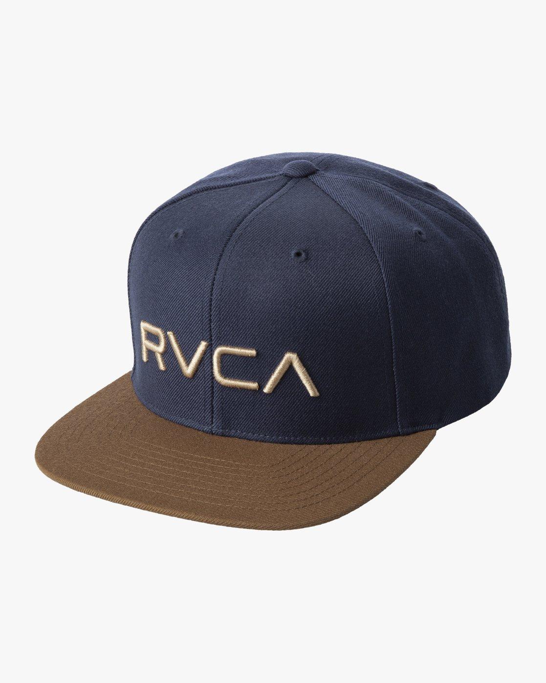 2 RVCA TWILL II SNAPBACK HAT Black MAAHWRSB RVCA