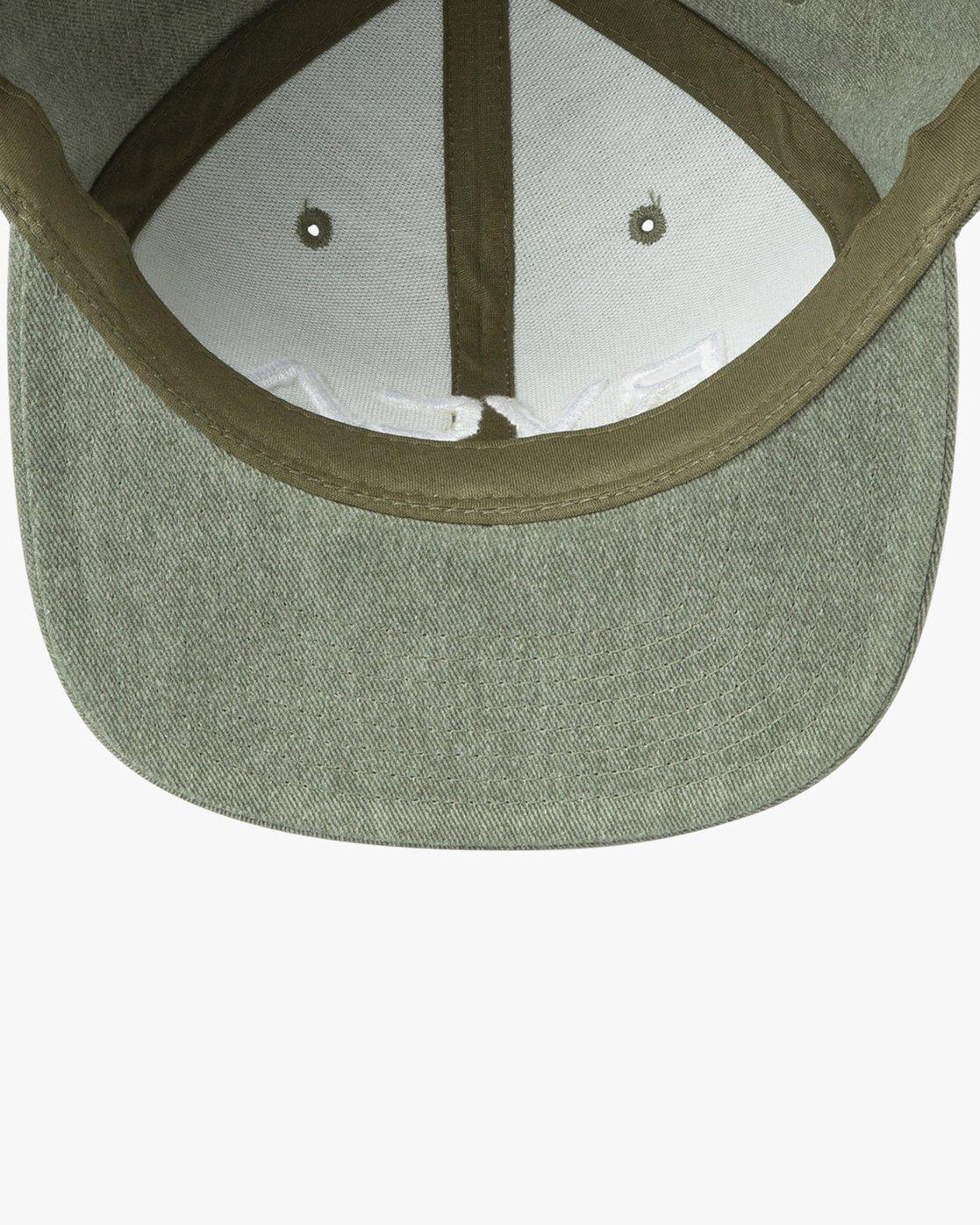 2 RVCA Twill Snapback III Hat Green MAAHWRSB RVCA