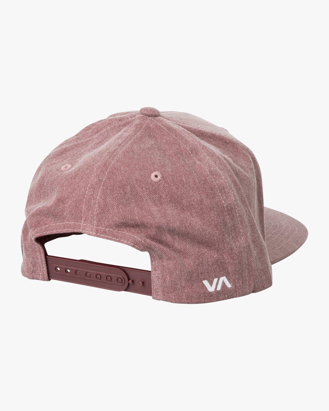 1 RVCA Twill Snapback III Hat Red MAAHWRSB RVCA