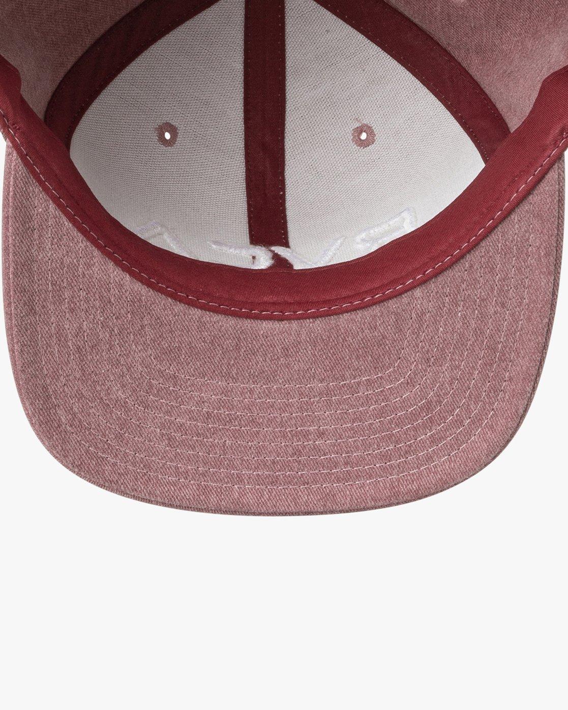 2 RVCA Twill Snapback III Hat Red MAAHWRSB RVCA