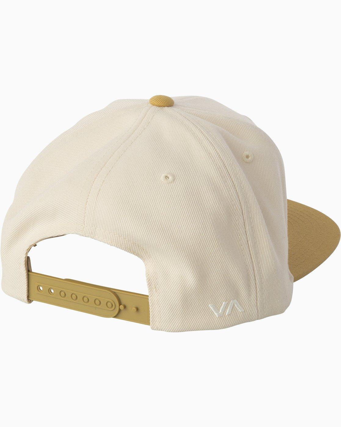1 RVCA Twill Snapback III Hat Beige MAAHWRSB RVCA