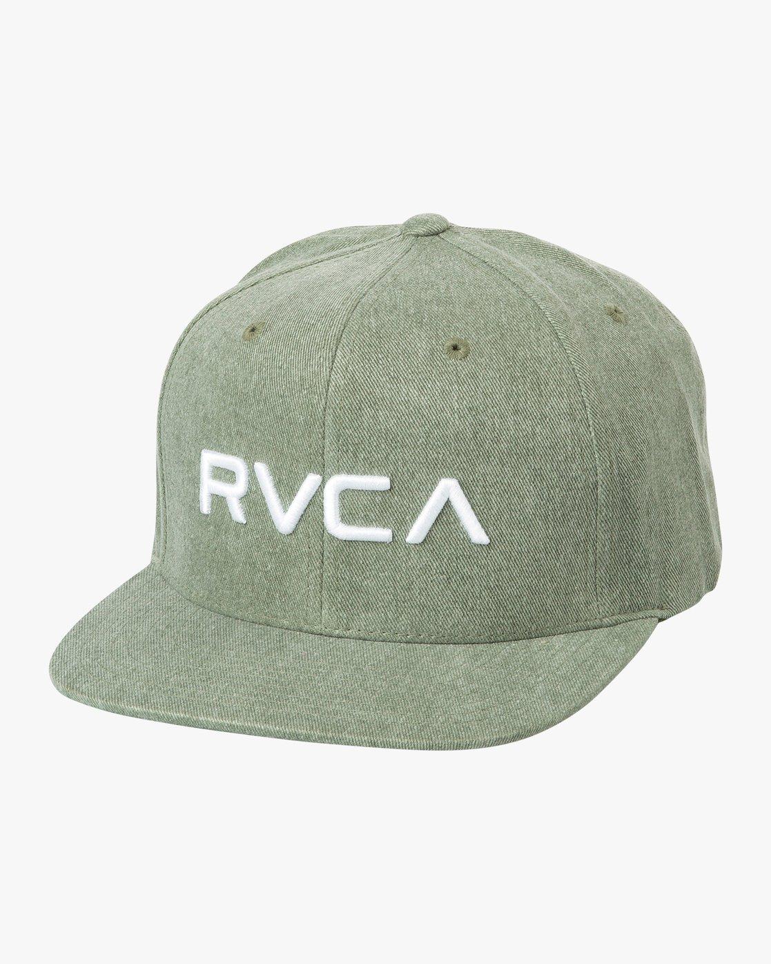 0 RVCA Twill Snapback III Hat Green MAAHWRSB RVCA
