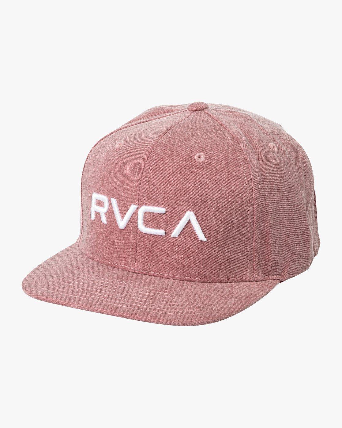 0 RVCA Twill Snapback III Hat Red MAAHWRSB RVCA