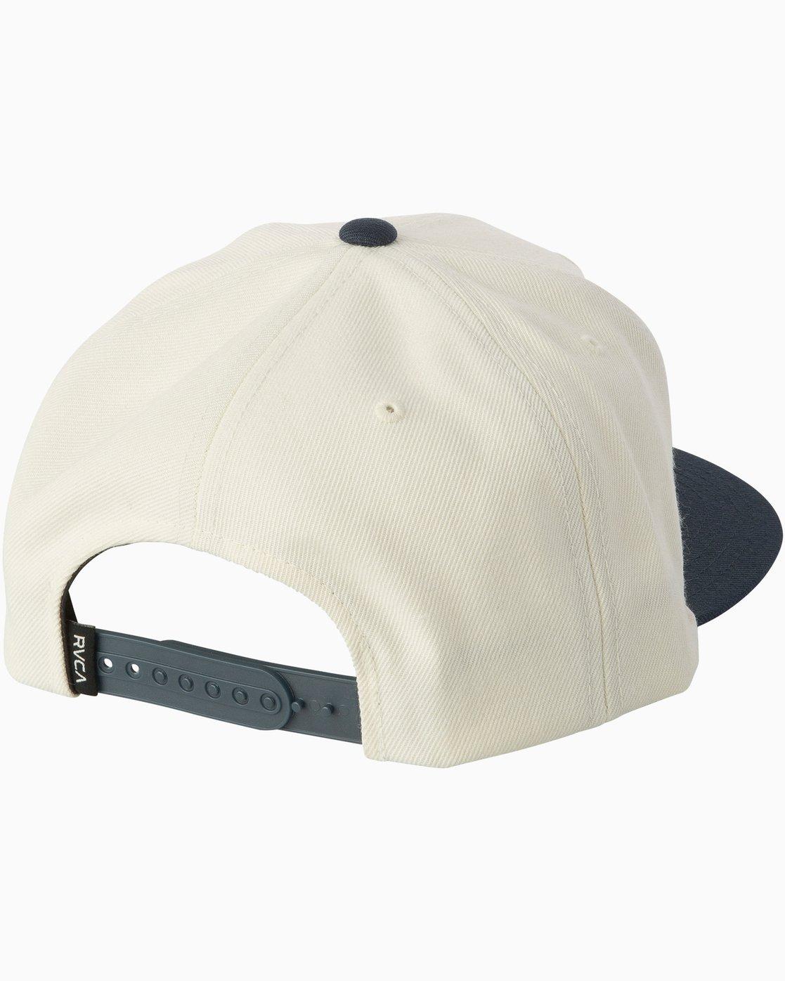 1 VA Snapback II Hat White MAAHWVAS RVCA