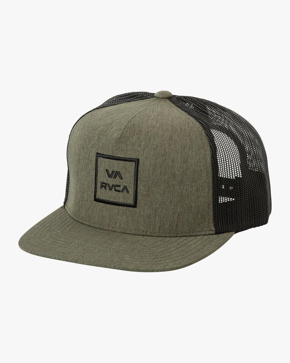 0 VA All The Way Trucker Hat III Green MAAHWVWY RVCA