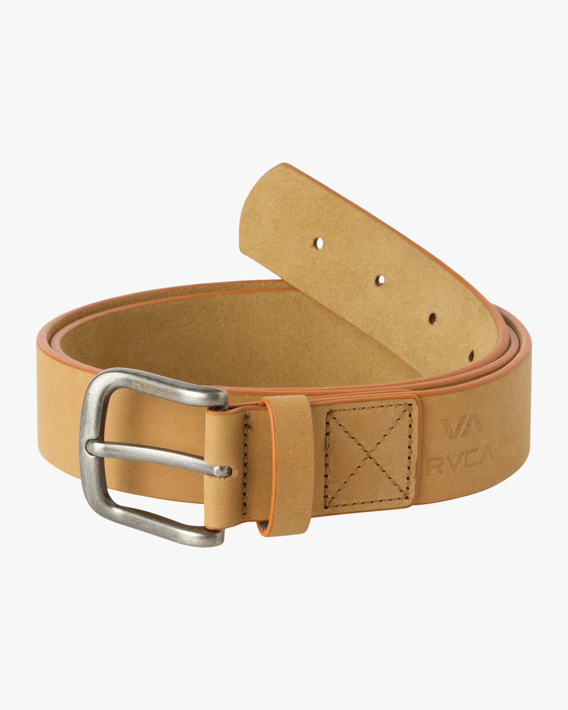 1 Truce Leather Belt Beige MABLQRTL RVCA