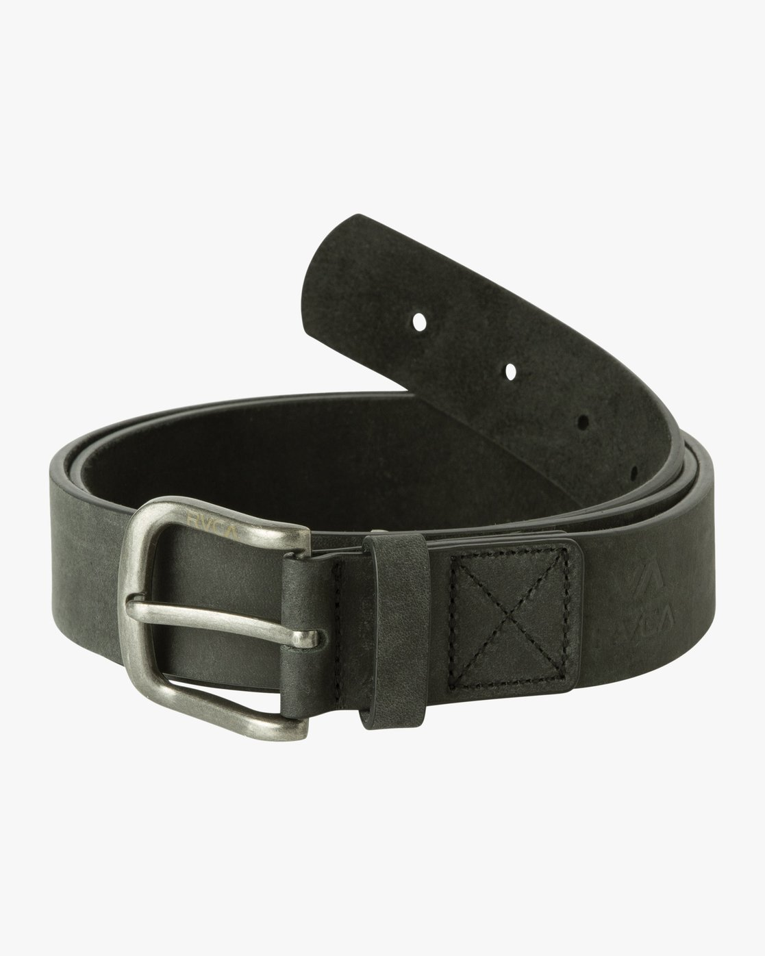 0 Truce Leather Belt Black MABLQRTL RVCA