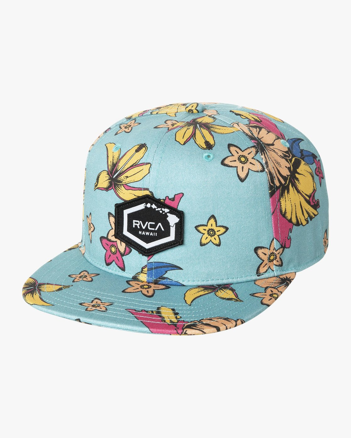 0 DMOTE FLORAL SNAPBACK HAT  MAHW1RDS RVCA