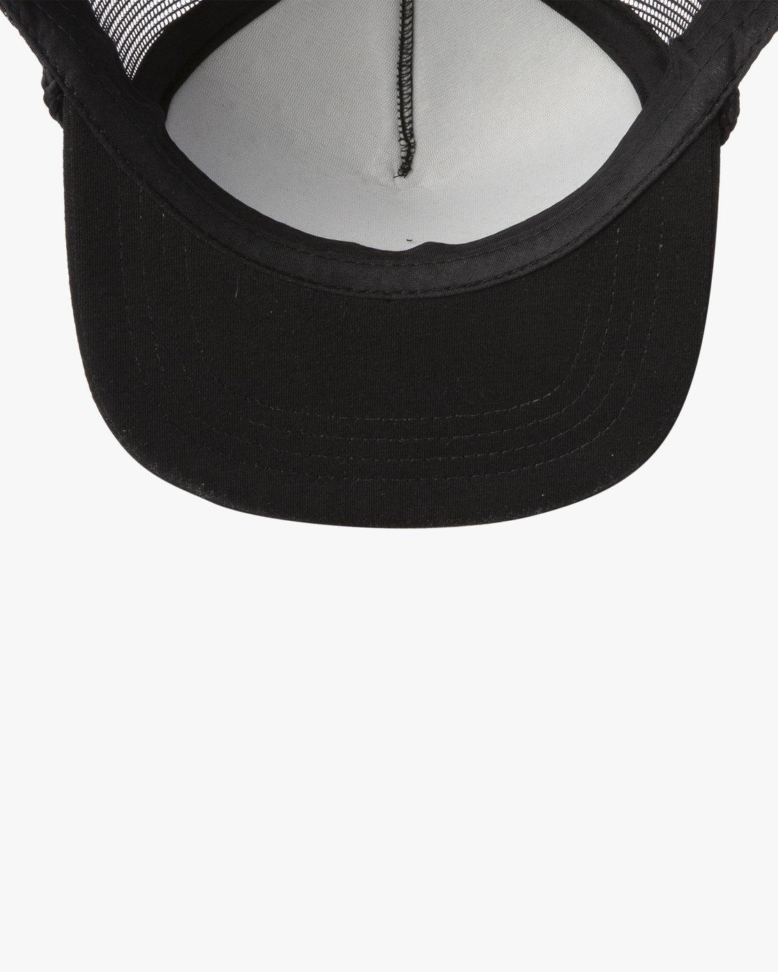 2 RVCA FOAMY TRUCKER HAT Black MAHW1RFT RVCA