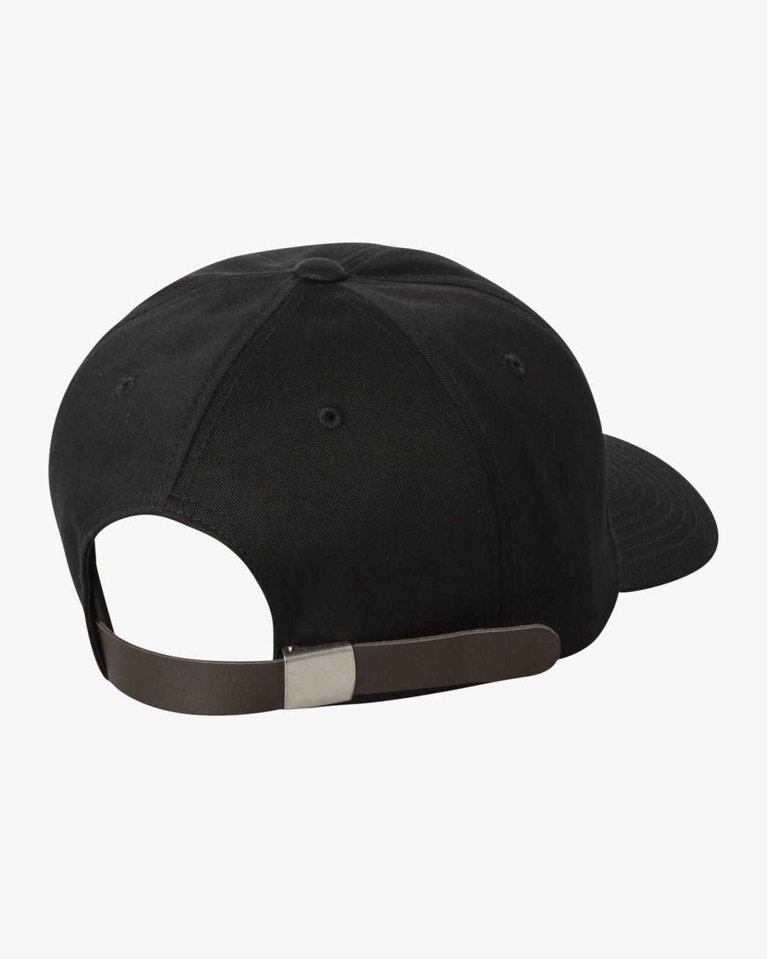 2 ANP CLASPBACK HAT Black MAHW3RAC RVCA