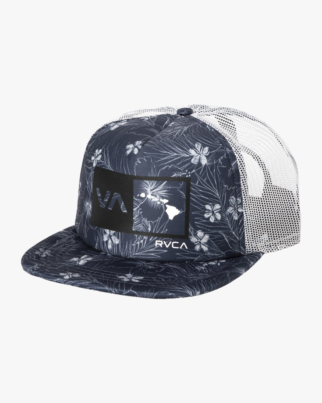 0 ISLANDS HEX SNAPBACK HAT Blue MAHW3RIH RVCA