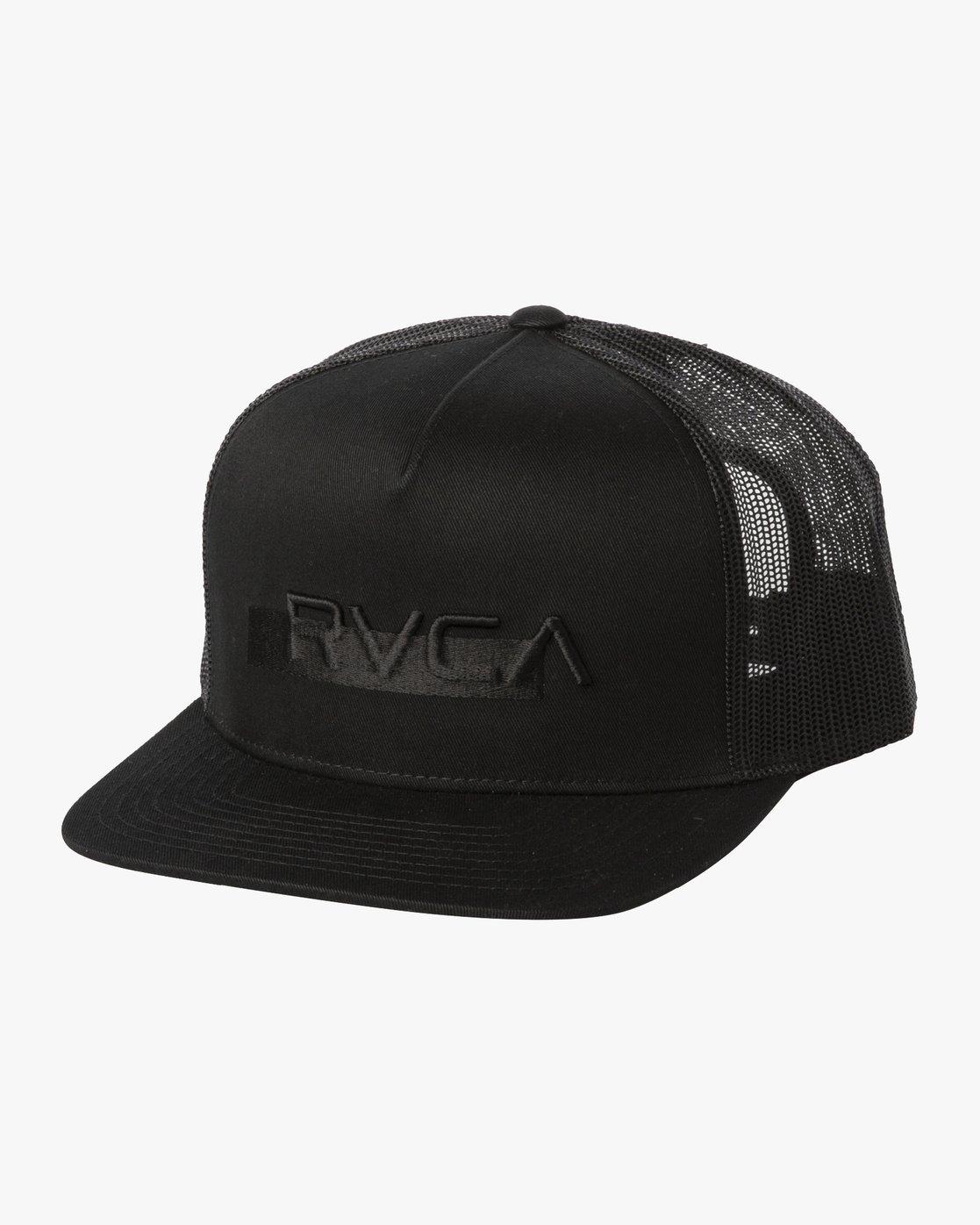 1 OVERLAY TRUCKER Black MAHW3ROT RVCA