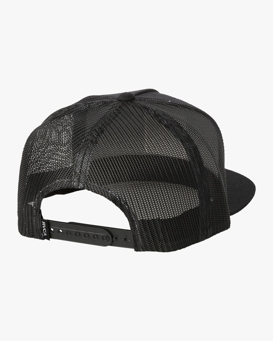 1 VA ATW PRINT TRUCKER HAT Black MAHW3RVP RVCA