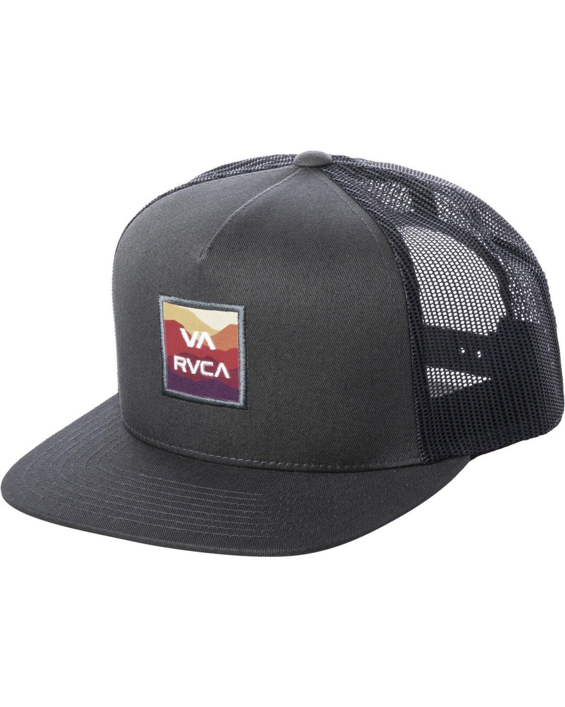 0 VA ATW PRINT TRUCKER HAT Grey MAHW3RVP RVCA