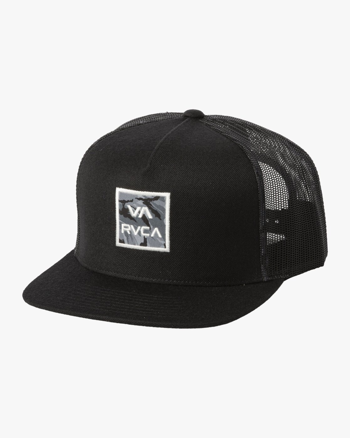 2 VA ATW PRINT TRUCKER HAT Black MAHW3RVP RVCA