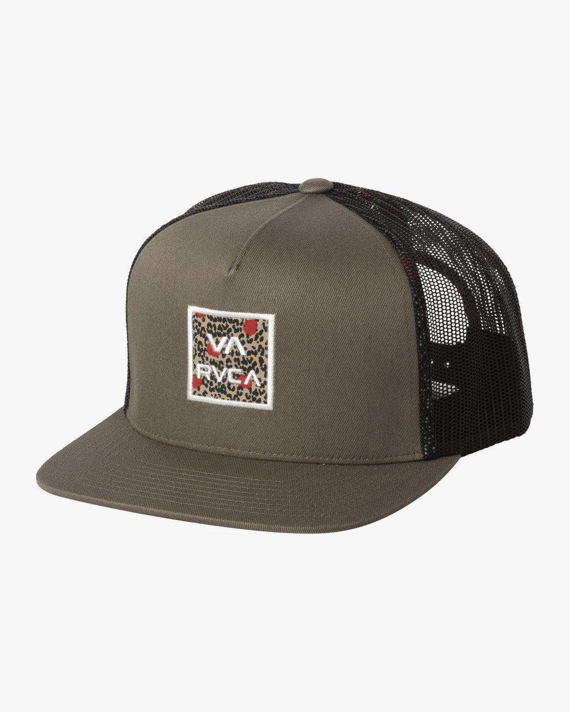 1 VA ATW PRINT TRUCKER HAT Green MAHW3RVP RVCA