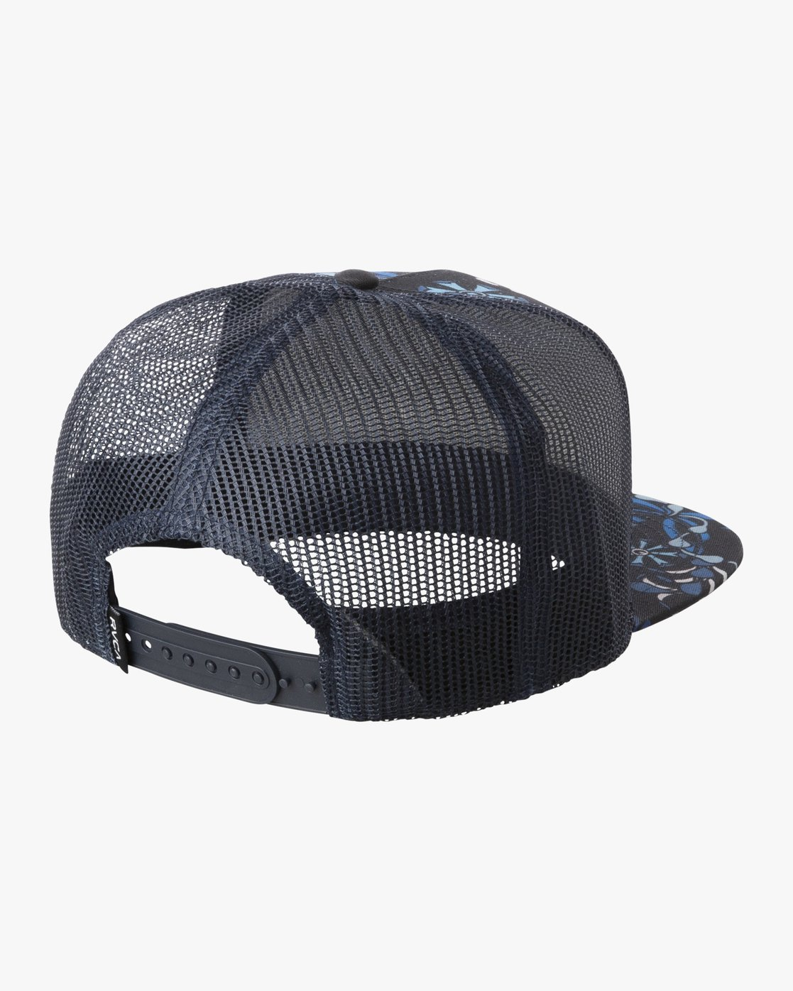 1 Island Patch Trucker Hat Blue MAHWNRIP RVCA