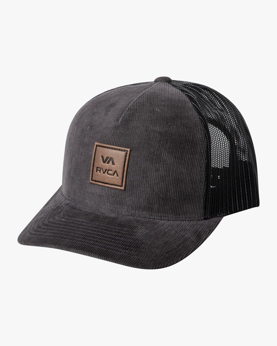 0 VA ATW CURVED BRIM TRUCKER HAT Grey MAHWPRVA RVCA