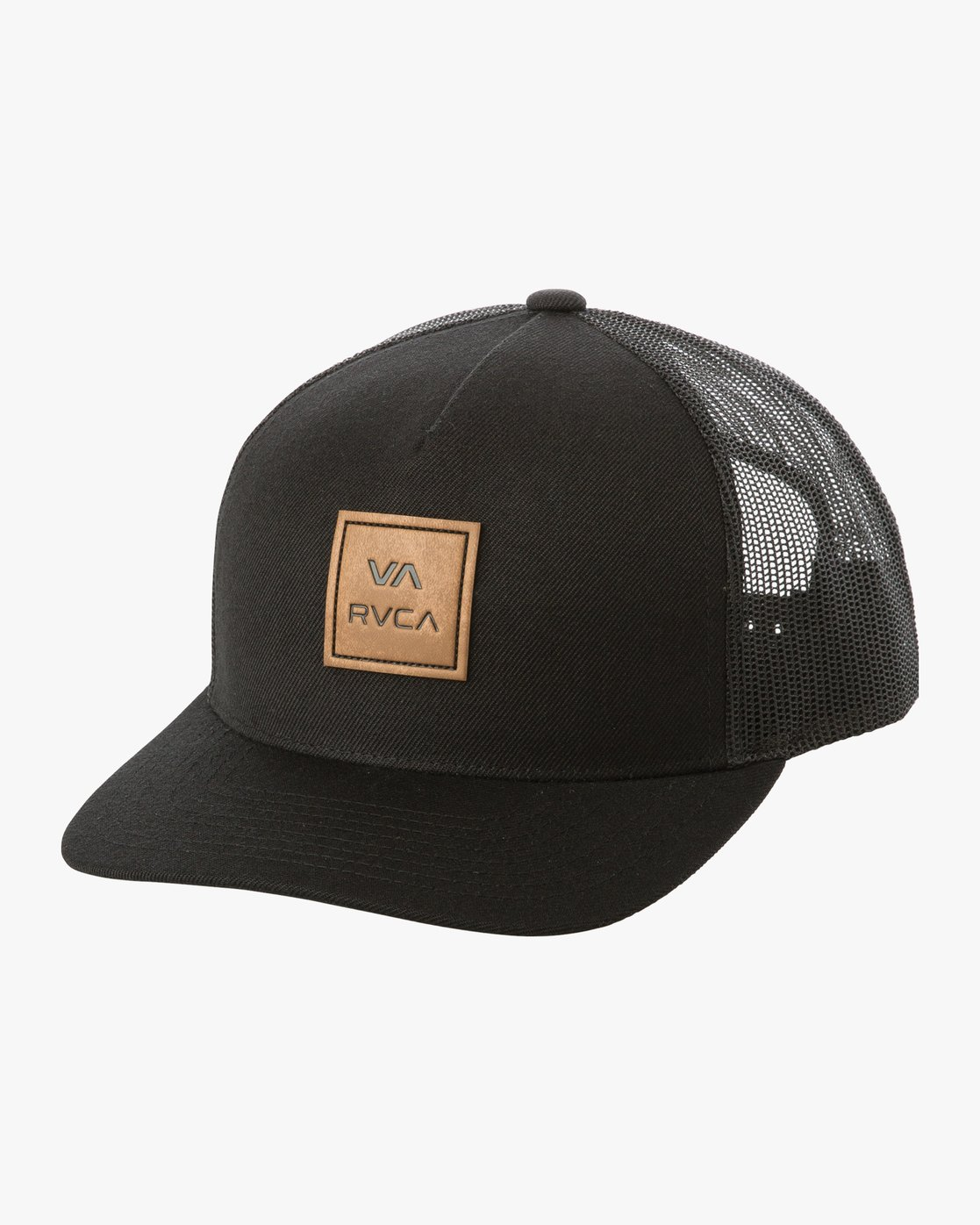 1 VA All The Way Curved Brim Trucker Hat Black MAHWPRVA RVCA