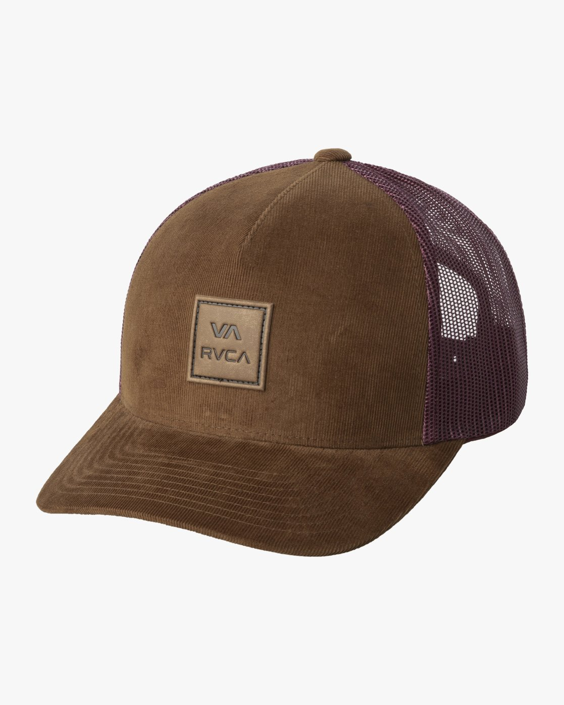0 VA ATW CURVED BRIM TRUCKER HAT Brown MAHWPRVA RVCA