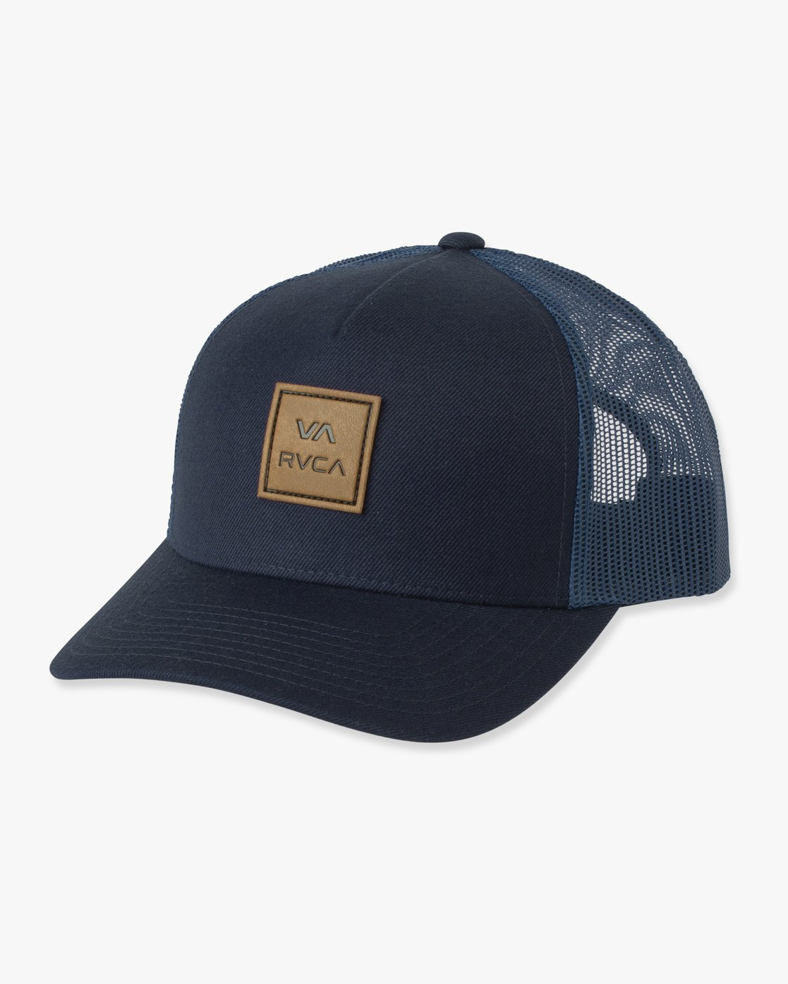 1 VA All The Way Curved Brim Trucker Hat Blue MAHWPRVA RVCA