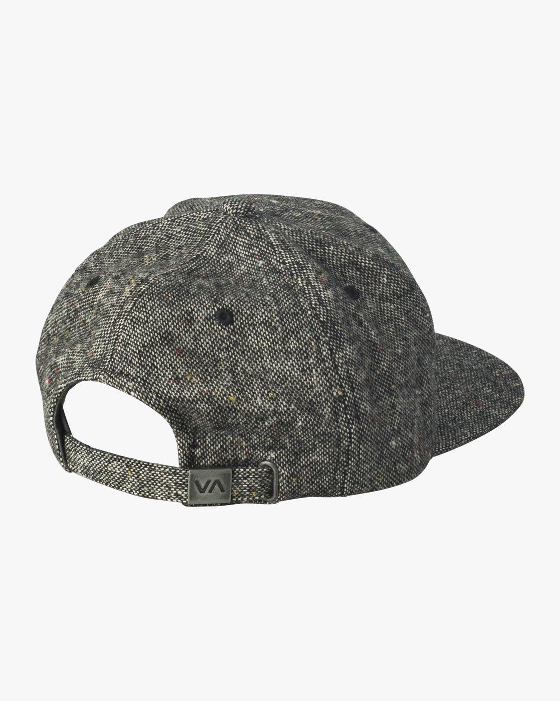 1 Tonally Embroidered Cap Black MAHWQRTL RVCA