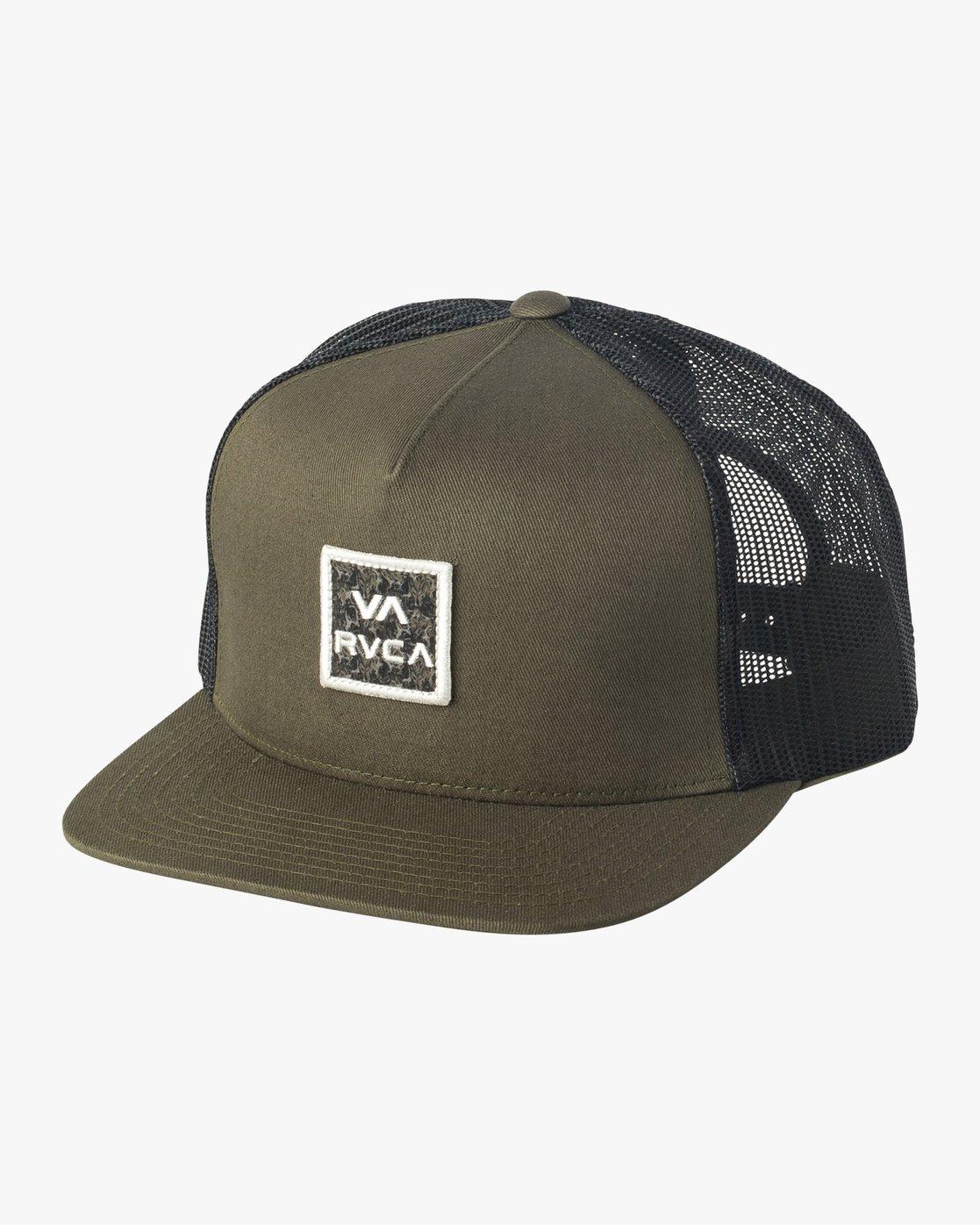 0 VA All The Way Printed Trucker Hat Green MAHWQRTP RVCA