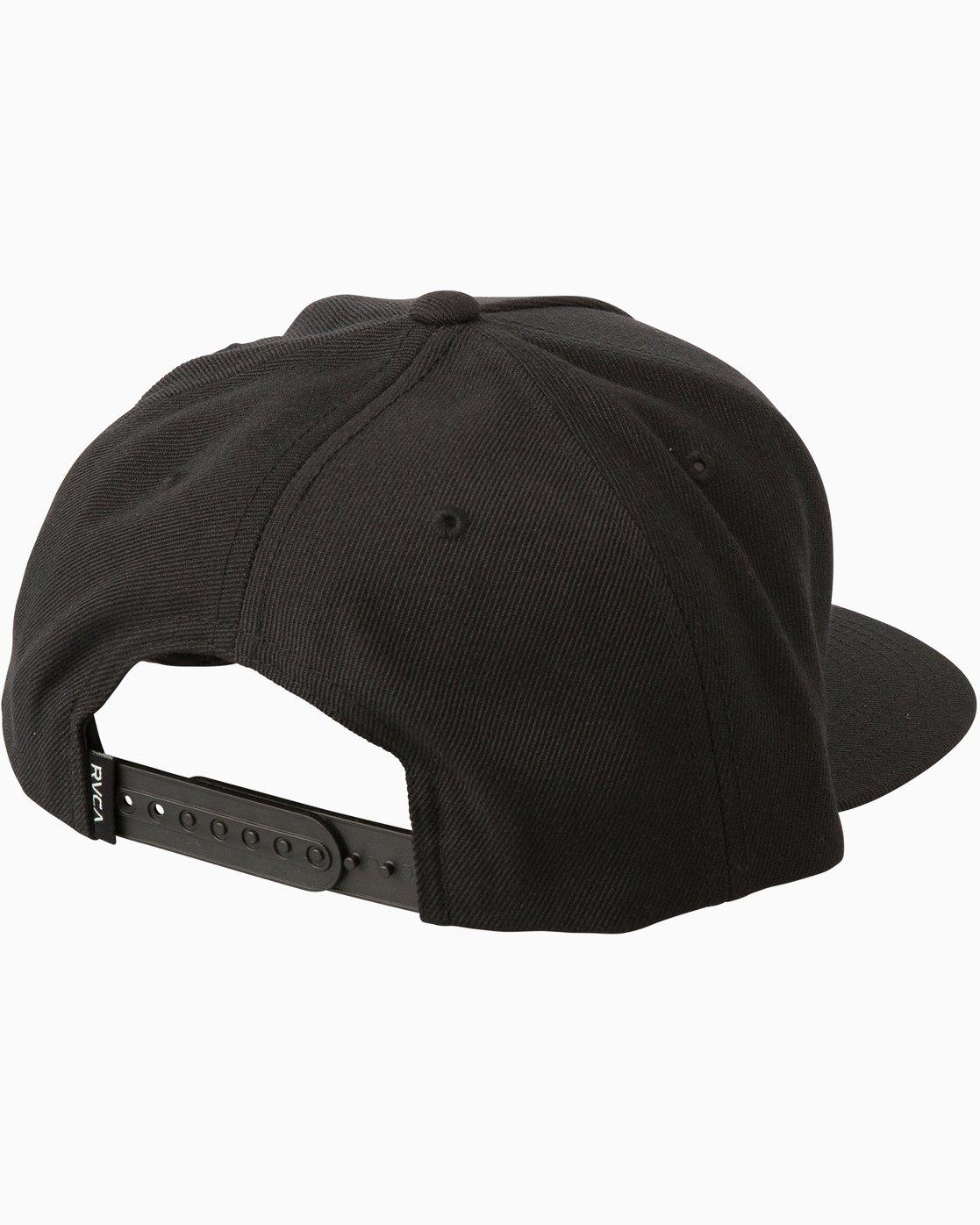 8b40ca632c7 1 Camps Snapback Hat Black MAHWTRCA RVCA
