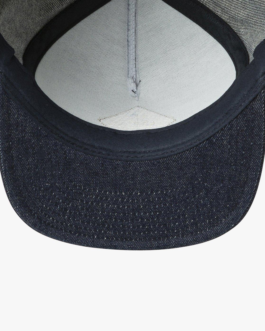 2 Camps Snapback Hat Blue MAHWTRCA RVCA