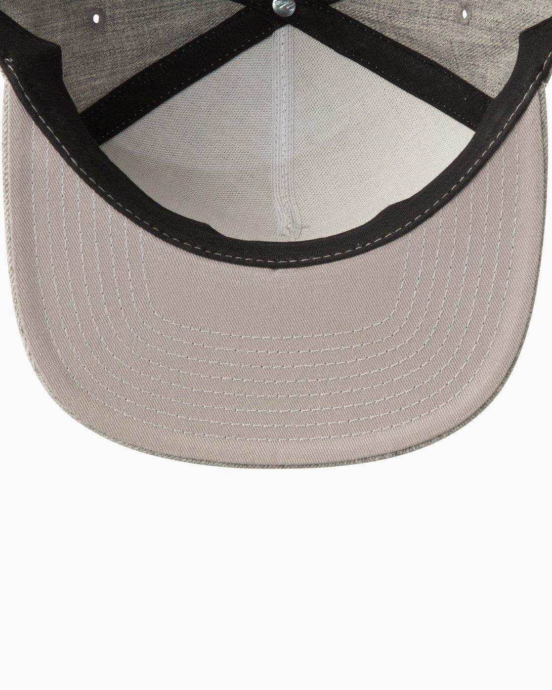 2 Camps Snapback Hat Grey MAHWTRCA RVCA